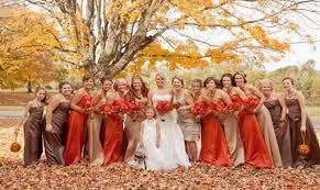 wedding fall.