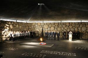 George+Bush+Visits+Yad+Vashem+Holocaust+Memorial+udBzXEE3JpMl.